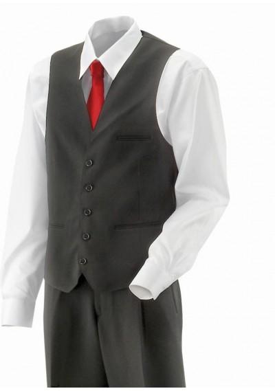 Herrenkrawatte Business-Streifen navyblau perlweiß