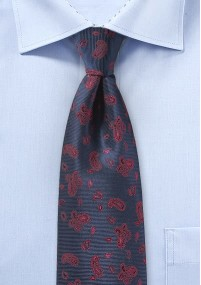 Krawatte Paisley traditionell rot