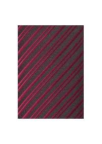 Krawatte Netzmuster dunkelrot