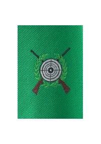 Kravatte Streifendesign edelgrün navyblau