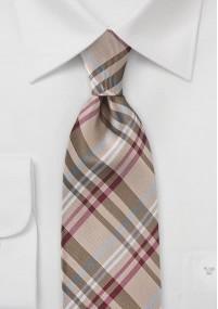 Krawatte grob gepunktet kupfer marineblau