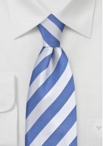 Krawatte hellblau weiß gestreift
