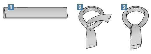 Krawattenschal binden: Einfacher Überschlag